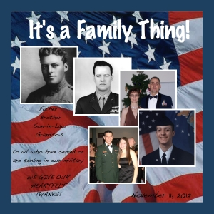 Armed Services Day digital scrapbook page