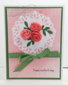Mother's Day card using home made shimmer mist