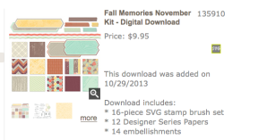 November digital kit screen shot