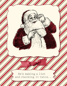 Santa's List stamp brush set