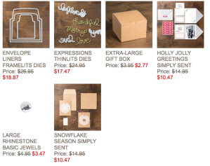 Stampin' Up! 24 hour specials