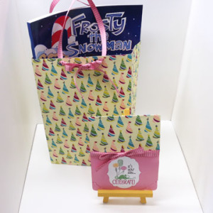 Gift bag created using Birthday Basics dsp