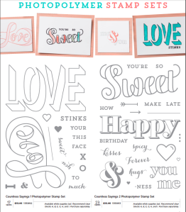 Countless Sayings 1 & 2 photopolymer stamps