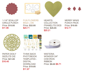 Stampin' Up! Week;ly Deal 12-3-13