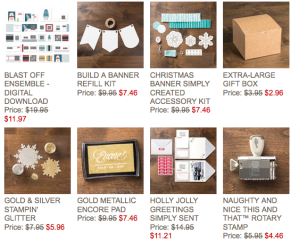 Stampin' Up! Weeky Deals for 12-17-13