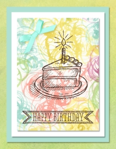Sketched Birthday digital card