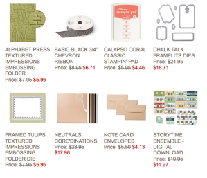 Weekly Stampin' Up! Deals for 1-14-14