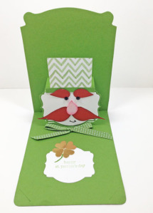 Deco Label Pop 'n Cuts St. Patrick's Day card