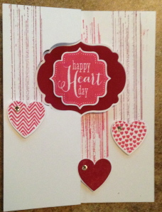 Hearts a Flutter and Gorgeous Grunge Flip card