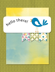 Digital card using Watercolor Wonder and Gingham Garden Designer Series Paper