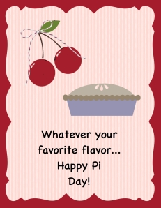 Digital Pi Day card by Sue Erickson