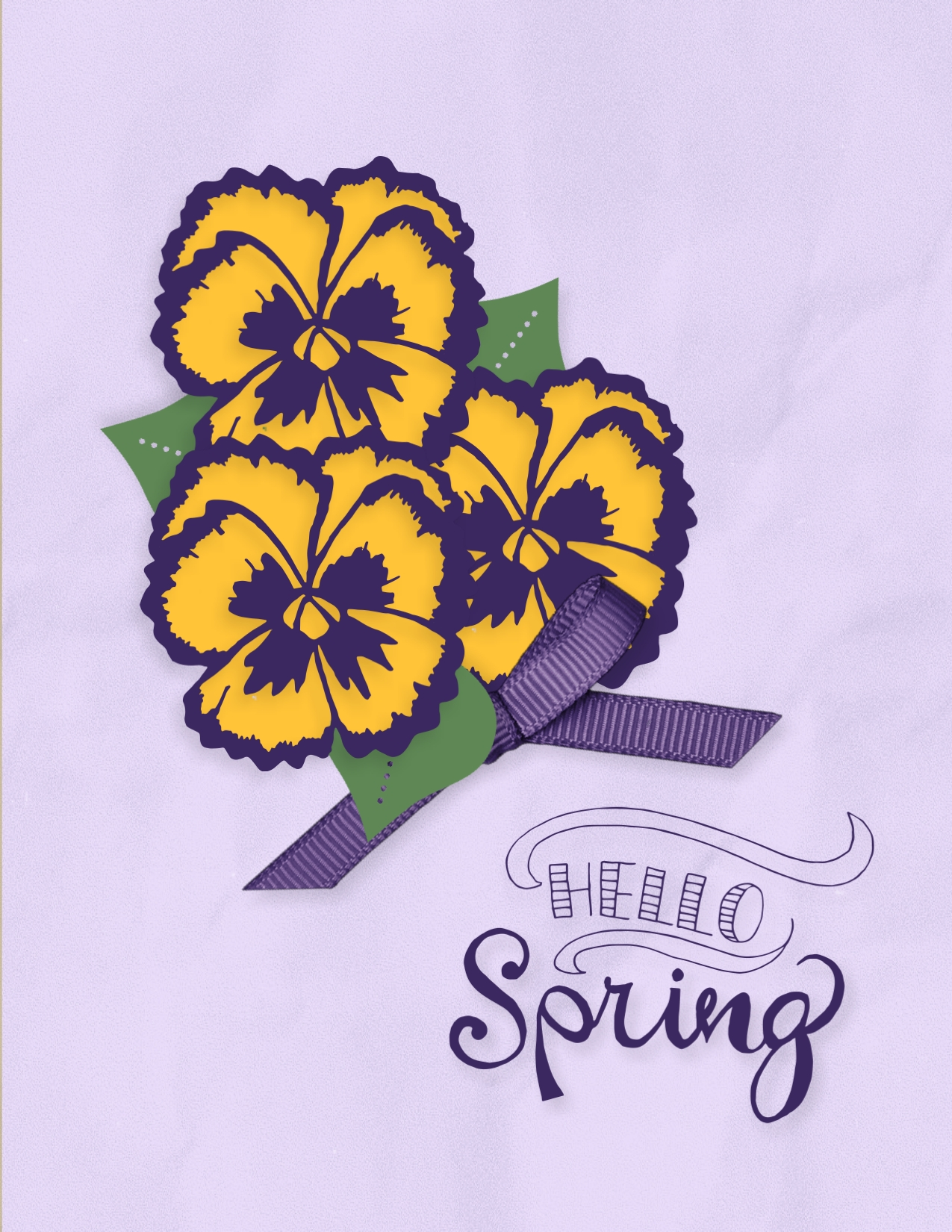 Hello Spring stamp brush set