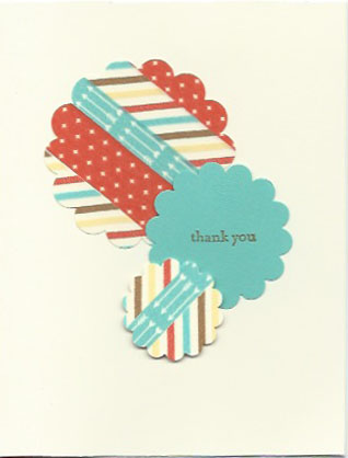 Retro Fresh This and That Designer Washi Tape Thank You card