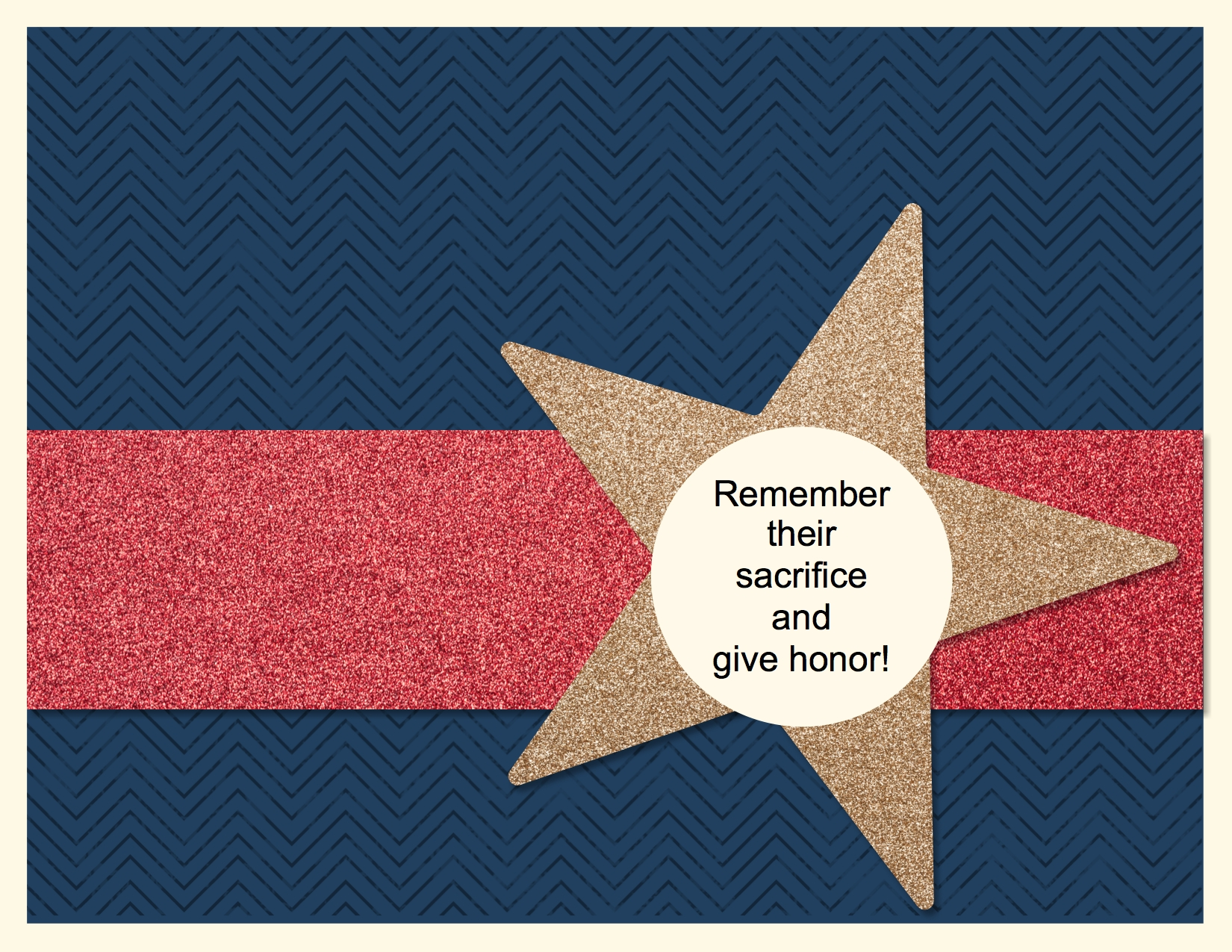 MDS Monday Memorial Day card