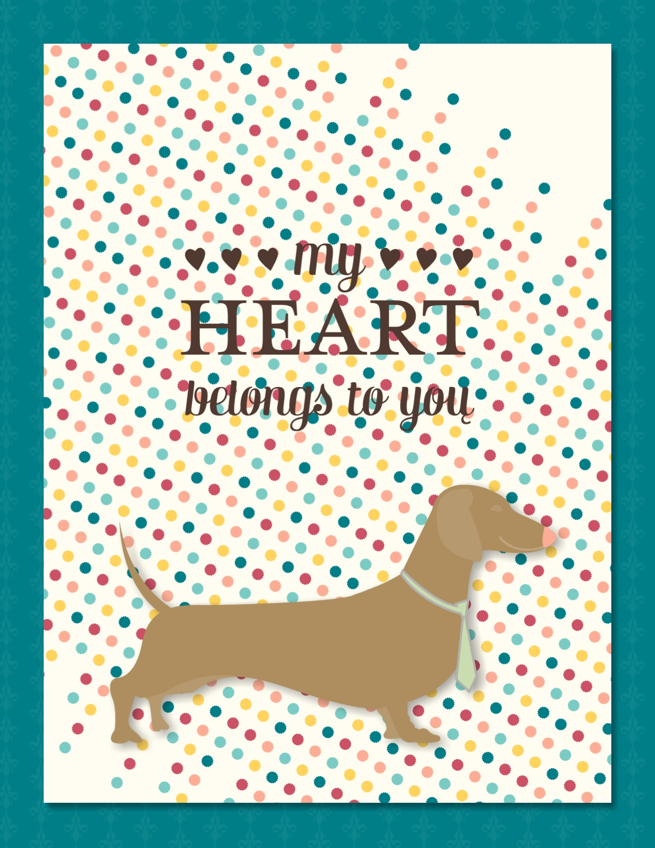 Digital greeting card with dochshund on it