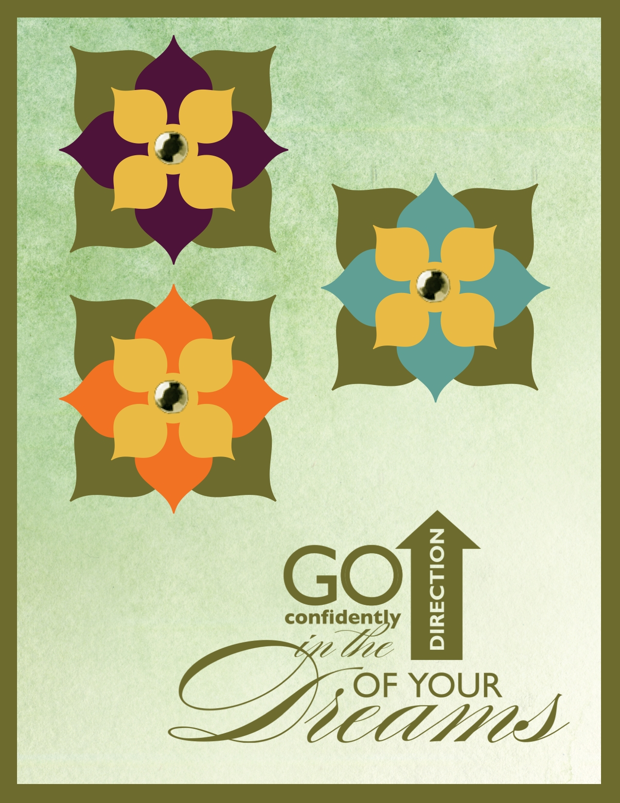 digital card using the new Stampin' Up! In Colors