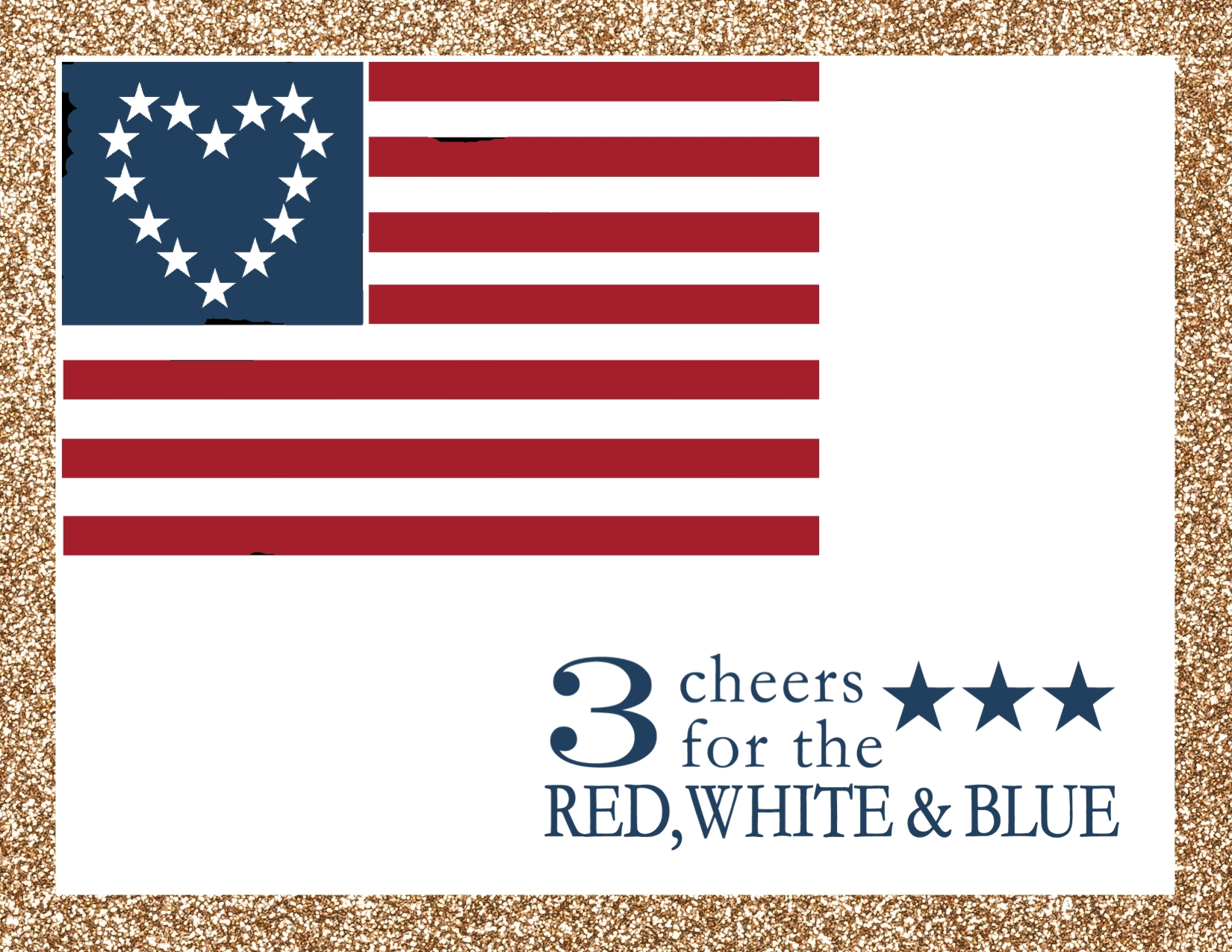 Digital Independence Day card created with Red, White, and Blue Digital Kit