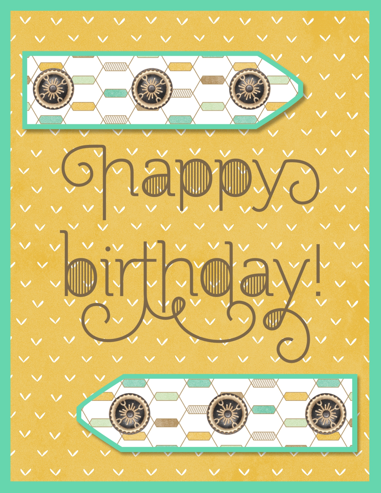 digital birthday card using Lullaby digital designer series paper and Age Awareness stamp brush set