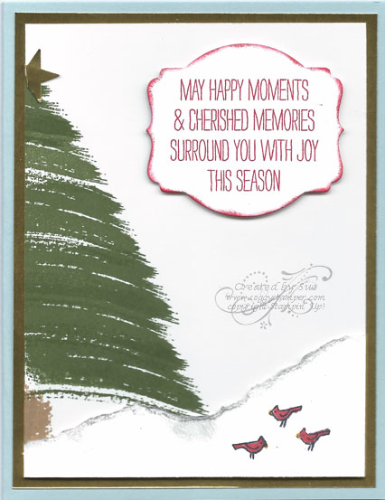 handmade Christmas card created with Work of Art stamp set