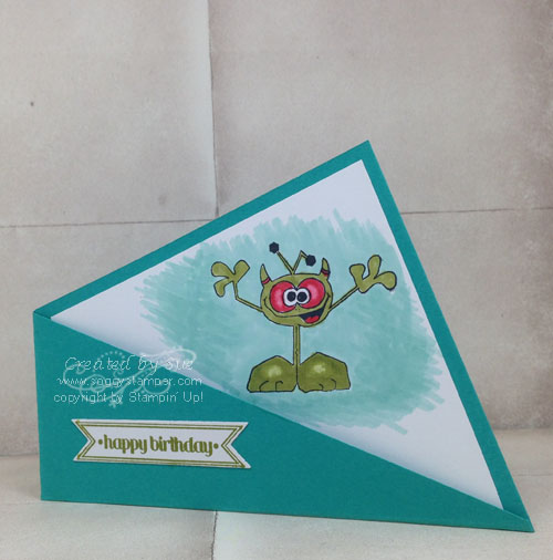 Monster Maniacs Birthday card