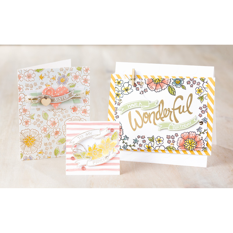Samples of You're Wonderful Photopolymer Stamp Set from Stampin' Up!