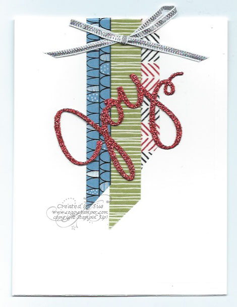 Handmade Christmas card using the Santa & Co Designer Washi Tape and Wondrous Wreat Thinlit Dies