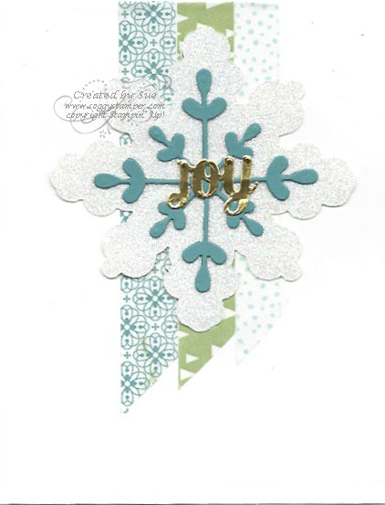 Handmade Christmas card using All Is Calm Designer Washi Tape and Snowflake Card Thinlits Dies