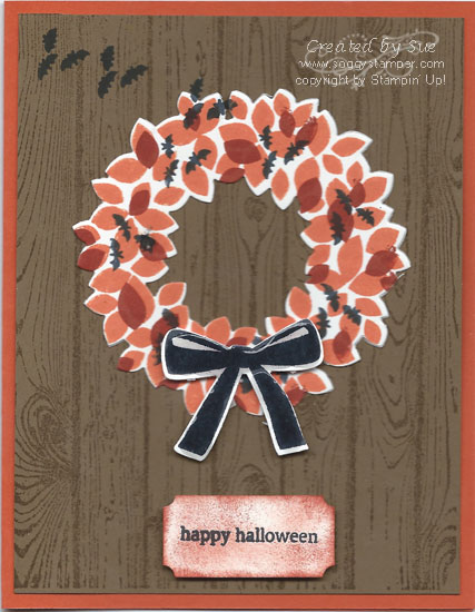 Handmade Halloween card created with the Woundrous Wreath stamp set and dies