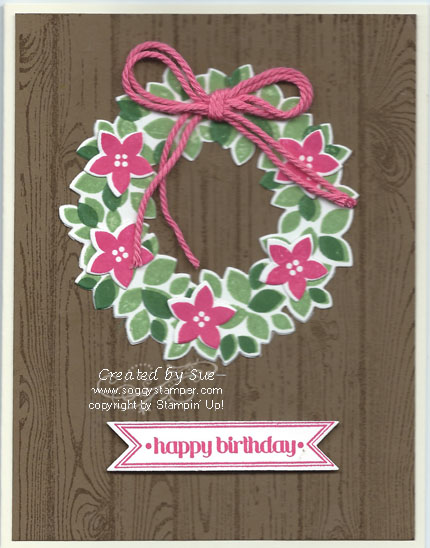 handmade Christmas card using the Wondrous Wreat stamp set