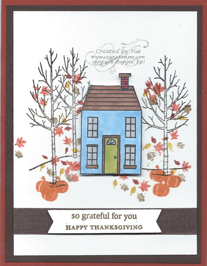 Thanksgiving Card using Holiday Home and White Christmas Stamp Sets