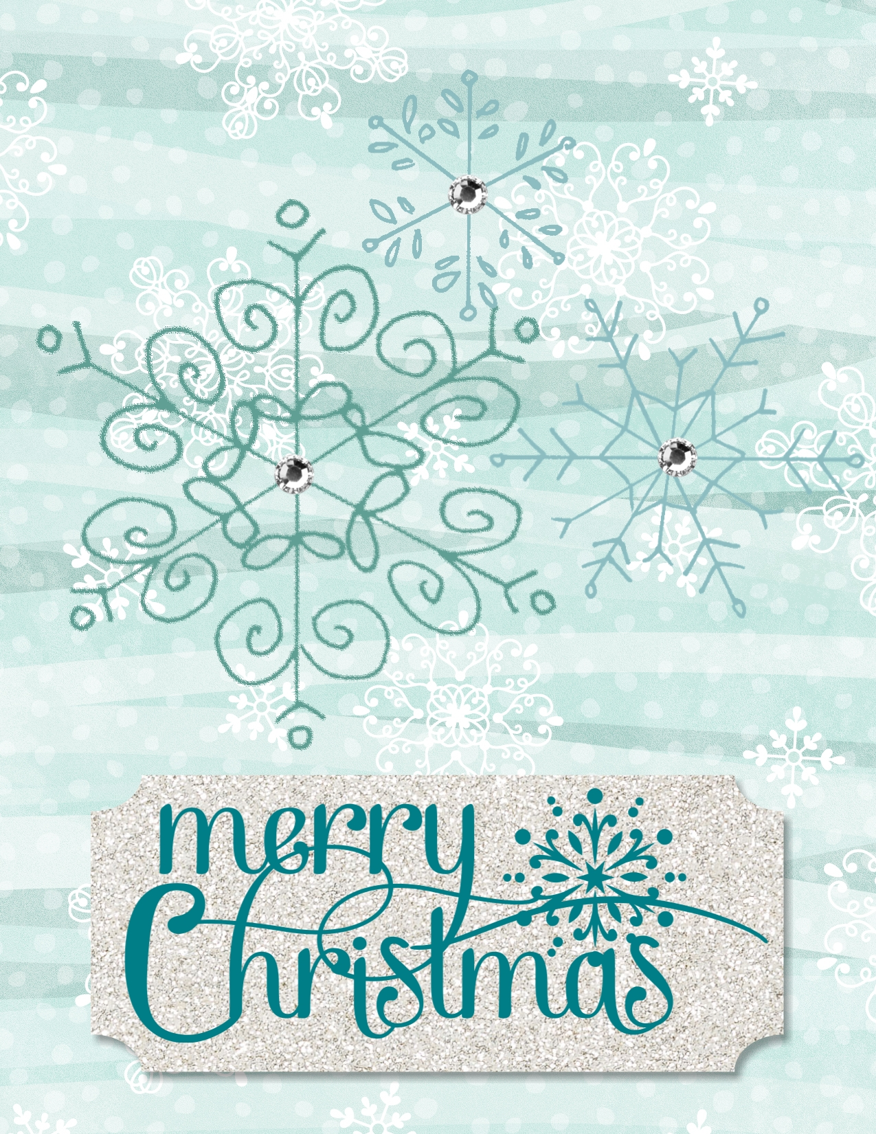 Digital Christmas Card created with All is Calm DSP and Endless Wishes stamp set