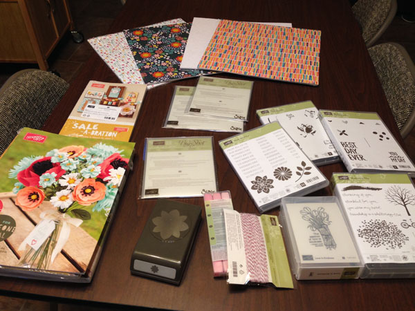 Stampin' Up! product preordered from the Sale-a-Bration and Occasions catalogs