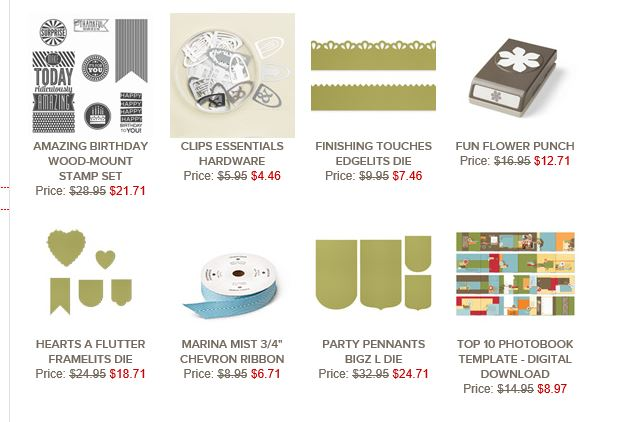 Stampin' Up!'s Weekly Deals for week of 12-29-14