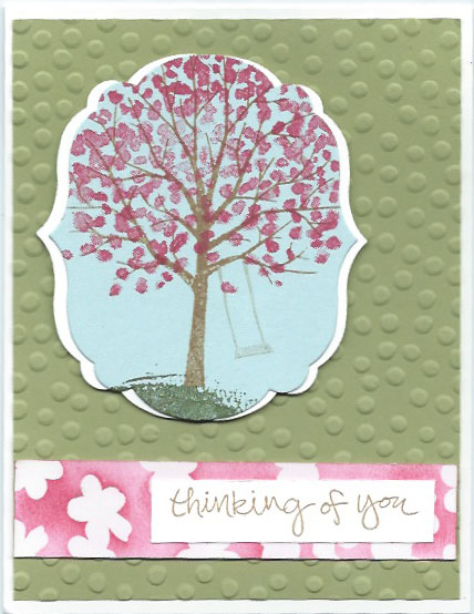 hand-stamped greeting card using the Sheltering Tree stamp set