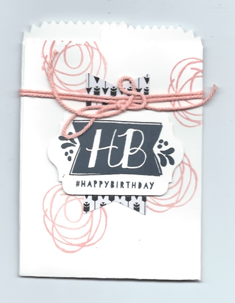 Mini Treat Bag with Balloon Bash stamp set