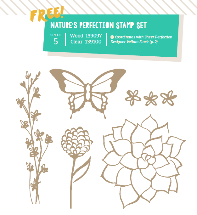New Nature's Perfection stamp set for Free during the last month of Sale-A-Bration