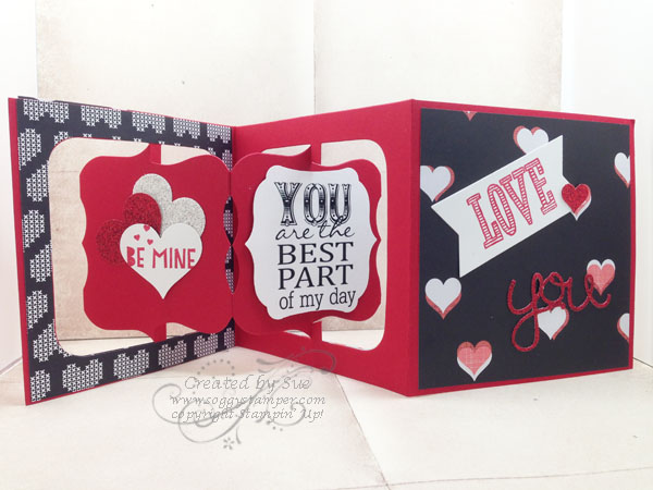 3-D handmade Valentine using You Plus Me stamp set and Stacked with Love paper stack