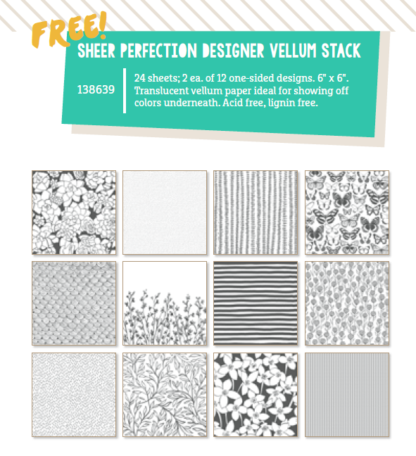 screenshot of the Sheer Perfection Designer Vellum Pack