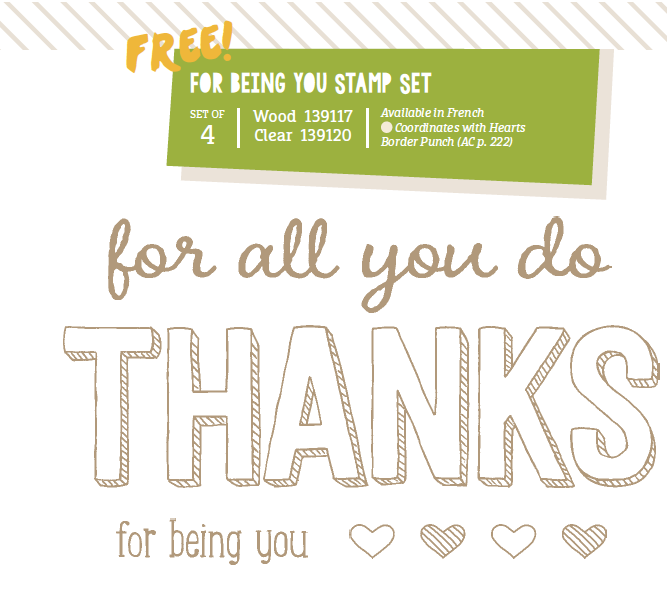 For Being You Sale-A-Bration stamp set
