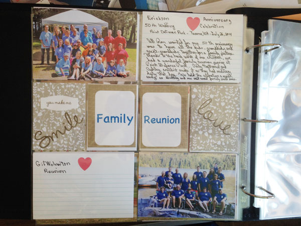 Project Life Family Reunion Page