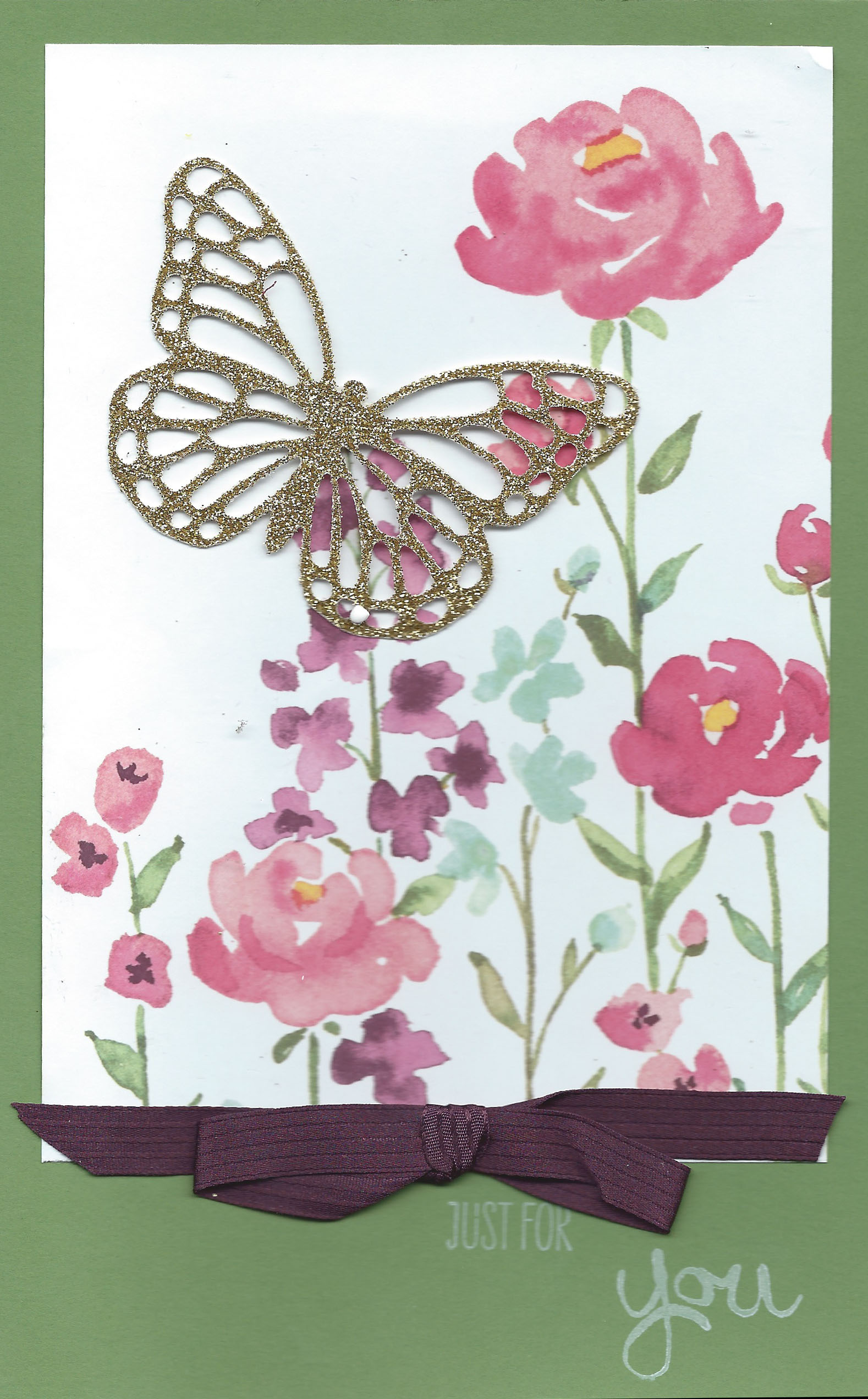 Painted Blooms handstamped card