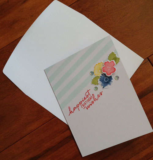 handmade card using the Watercolor Wishes Kit