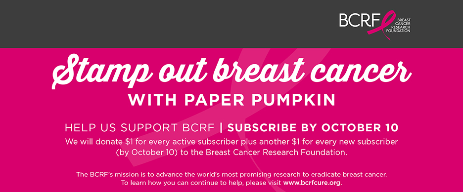 Breast Cancer Research Foundation Paper Pumpkin