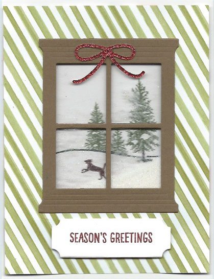 handmade Christmas card using the Hoppy Scenes stamp set and Hearth & Home thinlits dies