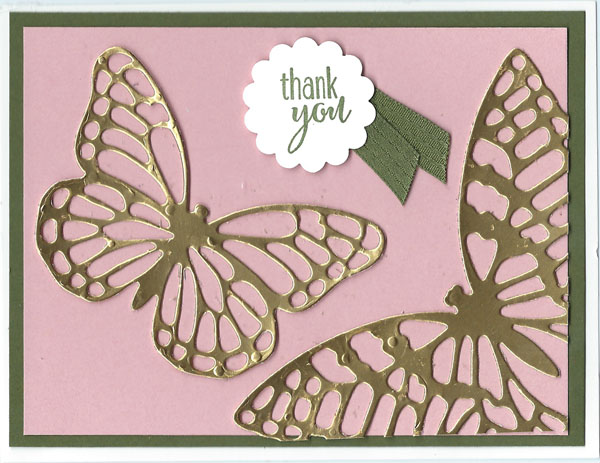 Handmade card using Butterfly Thinlits