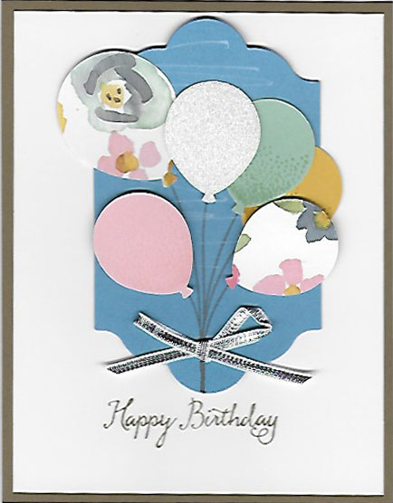 Handmade Birthday card using Balloon Celebration stamp set and Balloon Bouquet Punch