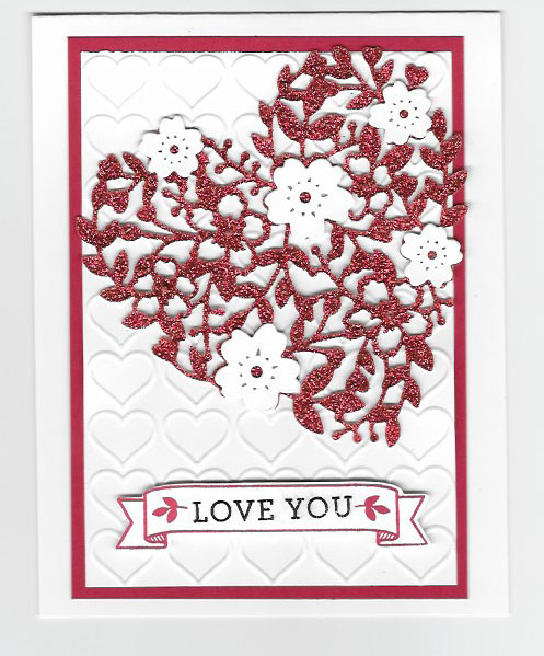 Valentine created with Bloomin' Heart Thinlits