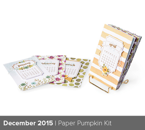 photo showing all the December Paper Pumpkin pages