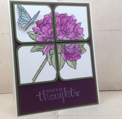 handmade greeting card using the Best Thoughts stamp set