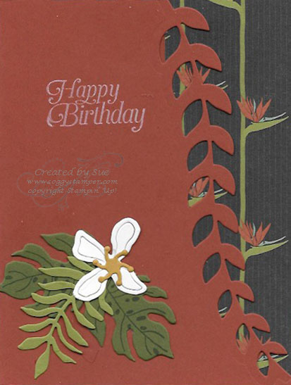 Birthday card created with the Botanical Gardens Bundle